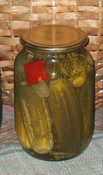 рецепт приготовления маринованных огурцов