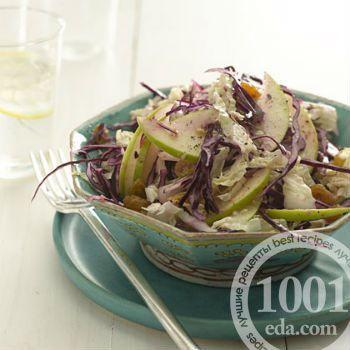 Салат из красной капусты с имбирем