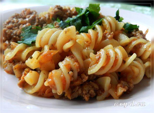 блюда из рожек рецепты с фото