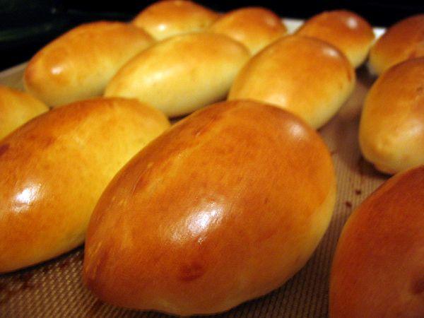 рецепт пирожков на сухих дрожжах в духовке фото