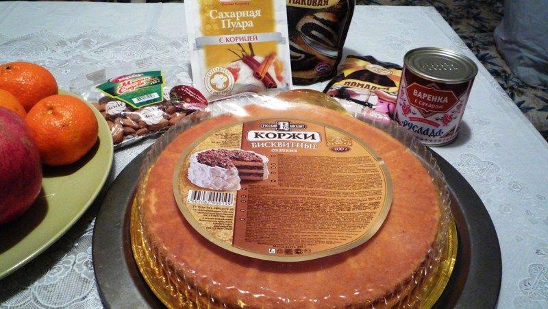 Как из бисквитных коржей сделать торт 192