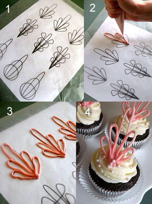 Как из шоколада сделать украшение для торта с фото