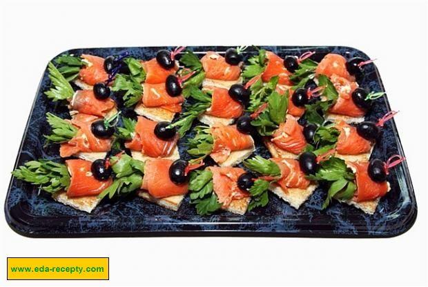 канапе с красной рыбой рецепты с фото