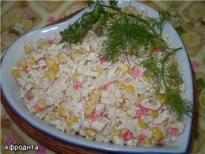 Рецепт крабового салата без риса пошагово