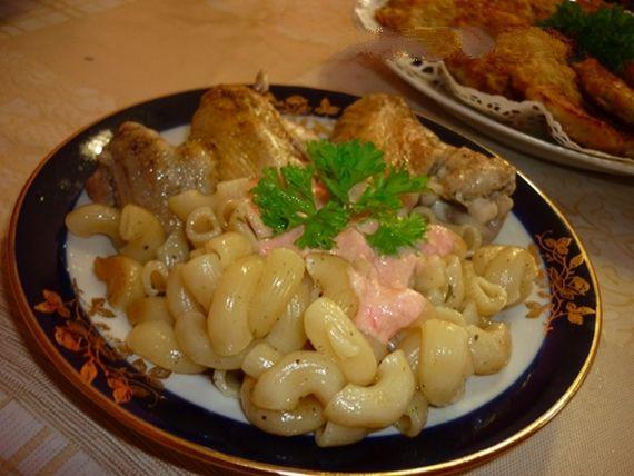 Куриные грудки с макаронами с фото