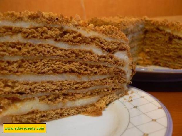 торт медовик рецепт с заварным кремом