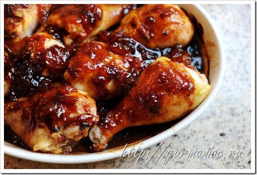 Курица в сладко кислом соусе в духовке рецепт