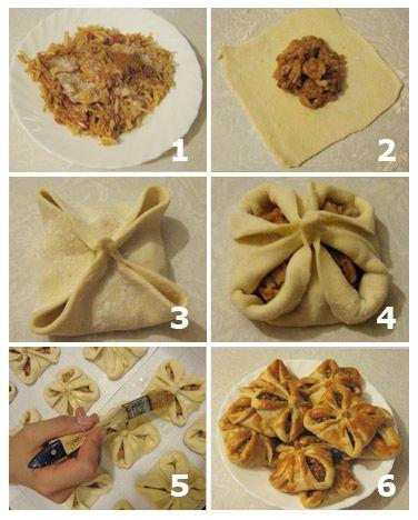 рецепты блюд из слоёного теста с фото
