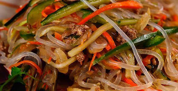 салат с фунчозой с курицей рецепт с фото