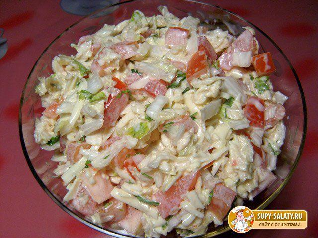 Салаты из пекинской капусты с ветчиной рецепты простые и вкусные