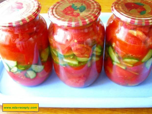 салат из огурцов с помидорами перцем на зиму рецепты