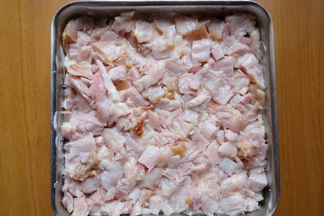 Салат слоями с копченой курицей и грибами рецепт с