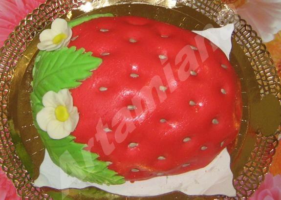 рецепт мастики для торта клубничный