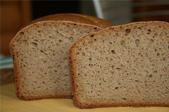 рецепт черный хлеб для хлебопечки