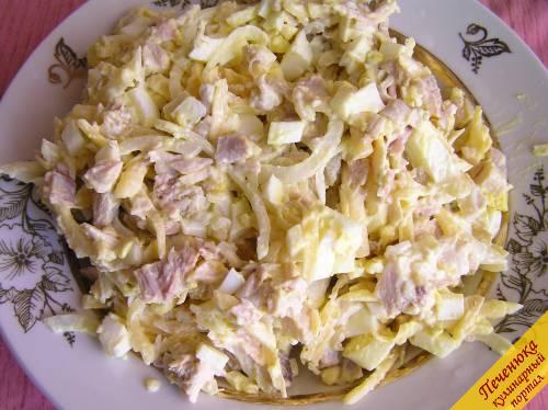 Вафельный корж с фаршем пошаговый рецепт с фото