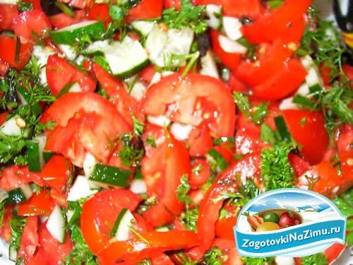 Салаты на зиму из красных помидоров
