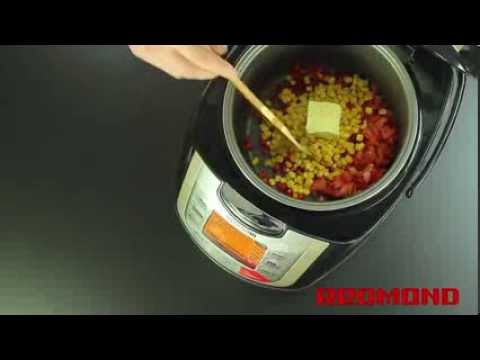 Мультиварка REDMOND RMC-M4502 (рецепт кукуруза по болгарски) / Multicooking REDMOND M 4502